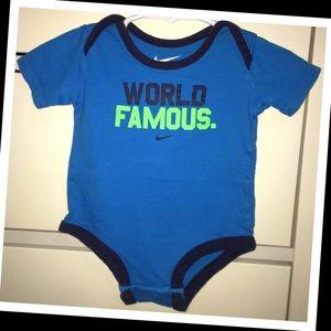 Nike One Pieces - Nike 3-6m baby boy onesie💙EUC💙